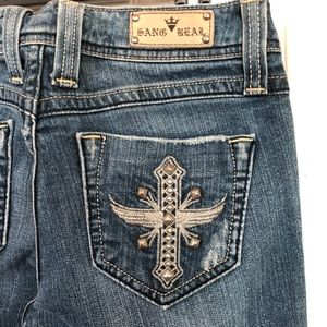 Sang Real Blue Jeans Size 27 = 6/7